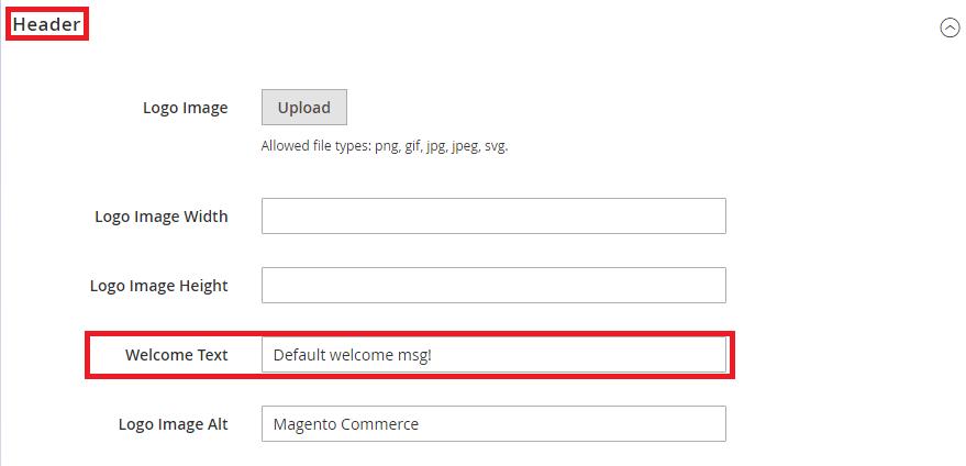 Comment changer le message de bienvenue dans Magento2