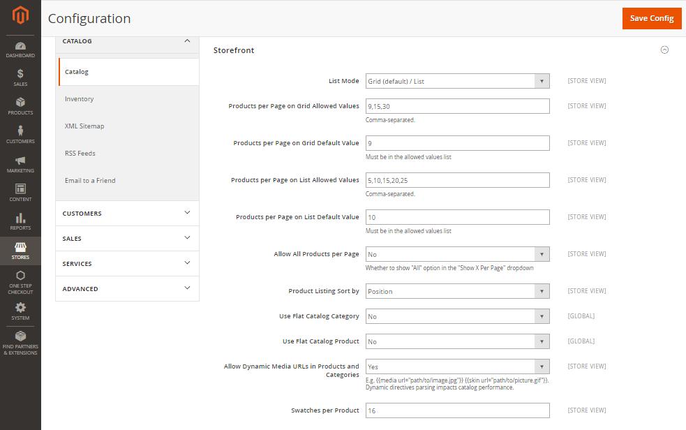 Comment configurer les listes de produits dans Magento 2.